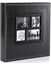 Benjia Photo Album 4x6 1000 Pockets Pictures, Extra Large Capacity Vintage Leather Cover Photo Albums That Holds 1000 Vertical and Horizontal 4x6 Photos Black