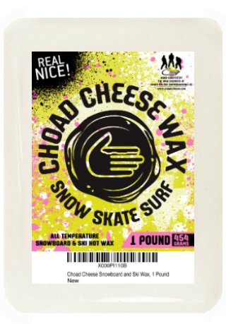 Choad Cheese Snowboard and Ski All Temp Hot Wax- 1 Pound	 (Temp Wax)