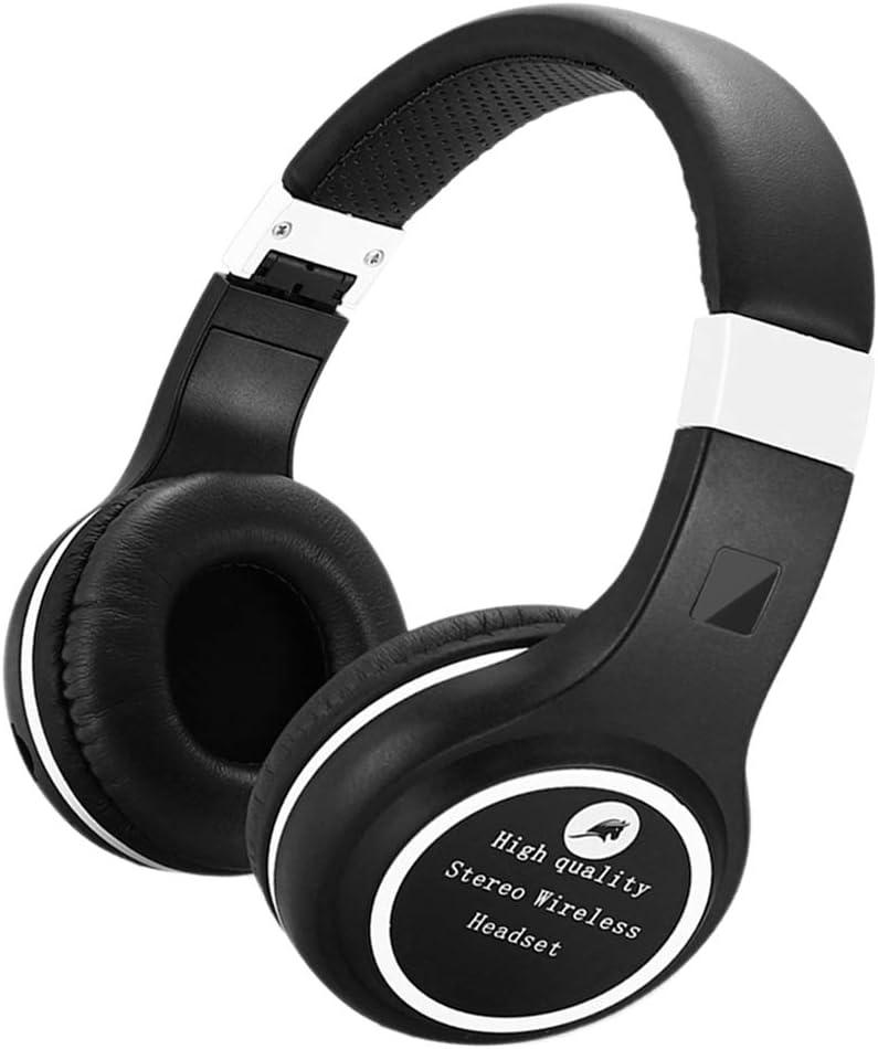 non-brand Auriculares de Diadema Bluetooth Plegables Música Inalámbricos - Negro