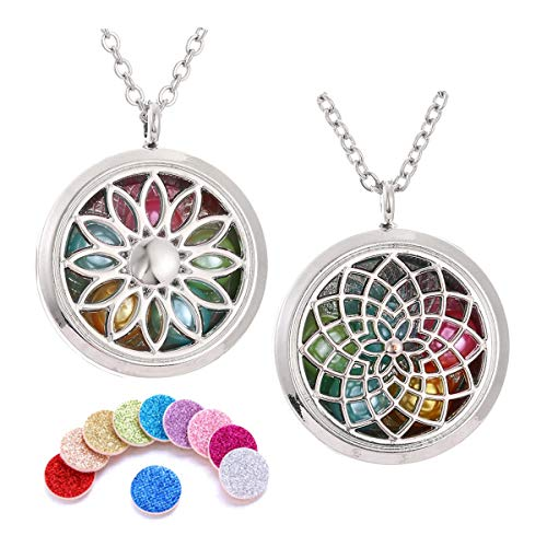 age Beads Cage Necklace Aromatherapy Essential Oil Diffuser Necklace Two Patterns Pendant Locket Jewelry 25.6