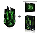 Estone x9 2400DPI LED Optical 6D USB Wired game Gaming Mouse gamer PC computer Laptop perfect upgrade combine x5 x7 with gift mouse mat