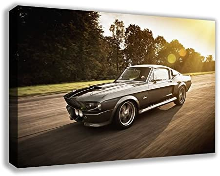 1967 Ford Mustang Shelby GT500 Eleanor Canvas Wall Art 44″ X 26″