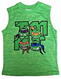 army ninja top - Boys Sleeveless Muscle Tank Top T-shirt (Small 6/7, Green - TMNT)