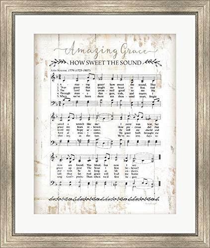 - Amazing Grace by Jennifer Pugh Framed Art Print Wall Picture, Silver Scoop Frame, 25 x 30 inches
