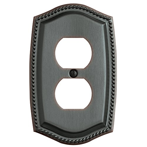 Baldwin Duplex Switchplate - Baldwin Estate 4789.112.CD Rope Duplex Wall Plate in Venetian Bronze, 5.3