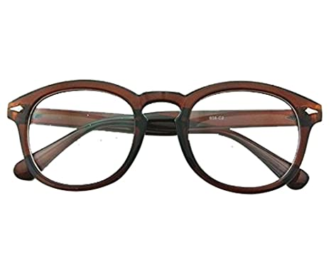 d2a0a072a5 Image Unavailable. Image not available for. Color  Brown Vintage Eyeglass  Frame Full-Rim Retro Glass Man Women Clear Lens Spectacles RX