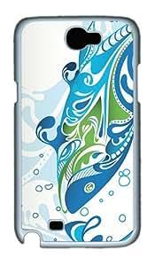Aquatic Duality Polycarbonate Hard Case Cover for Samsung Galaxy Note II N7100¡§C White wangjiang maoyi