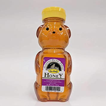 Star Thistle Honey Bear - Pure Michigan Honey, Unpasteurized, Unblended,  No