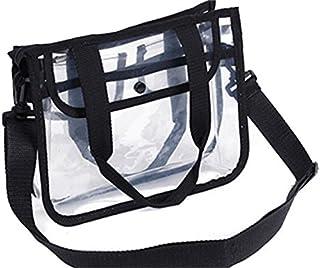 HOUHOUNNPO Mode Transparent Sac de Rangement Pliable Sac à cosmétiques Sac Pochette pour Les Femmes (Noir) Pochette Cosmétique Femme