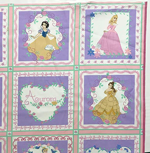 - Disney Princess Quilt Block Fabric Panel - 20 Blocks (Great for Quilted Book Kit, Quilting, Sewing, Craft Projects, Wall Hangings, Throw Pillows and More) 35