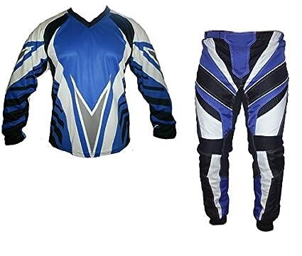 Chándal Motocross AZUL S M L XL XXL XXXL: Amazon.es: Coche y moto