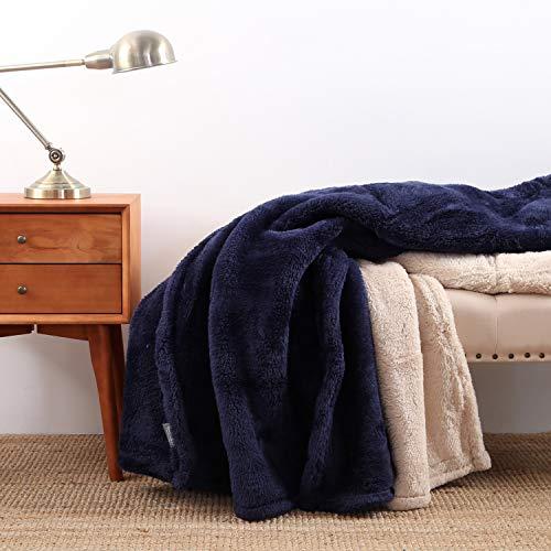 Berkshire Blanket Extra-Fluffy Blanket Plush Throw, Atlantis -