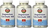 KAL – Magnesium Glycinate 400, 3Pack (180 tablets Each )