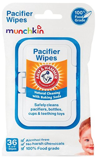 Munchkin Arm & Hammer Pacifier Wipes - 3 Packs of 36 Wipes (Total 108 Count)