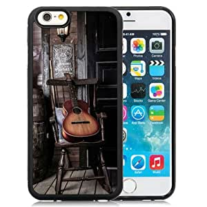 NEW Unique Custom Designed iPhone 6 4.7 Inch TPU Phone Case With Old Guitar On Chair_Black Phone Case