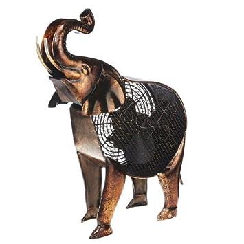 DecoBREEZE Table Fan Two Speed Electric Circulating Fan, African Elephant  Figurine Fan