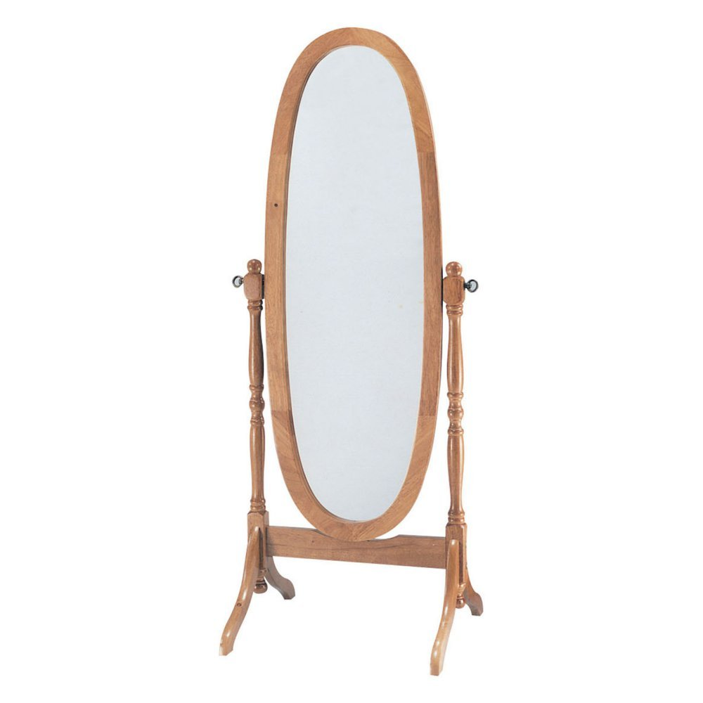 ACME 02289 Fynn Cheval Mirror, Oak Finish