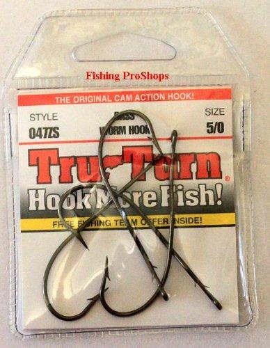 TruTurn 5/0 Bronze Worm Hooks - Ultra Sharp 4 Pack
