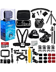 $287 » GoPro HERO7 (Hero 7) Silver with Essential 25 Piece Accessory Bundle - Includes: SanDisk Ultra 32GB MicroSDHC Memory Card, Premium Hard Case for GoPro, Chest Strap with Mount, Mini Tripod & Much More