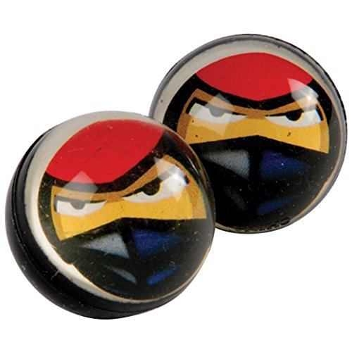 US Toy Ninja Design Super Hi High Bounce Rubber Balls - Pack of 12