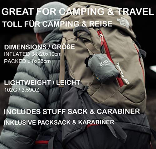 51C2qSUrMFL JÖKEL Aufblasbares Kissen, Camping Kissen, Reisekissen Aufblasbar – Praktisches Kopfkissen zum Camping, Outdoor…