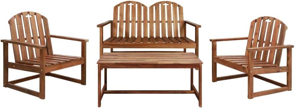 Festnight Salon de Jardin en Bois d\'acacia mobilier de ...