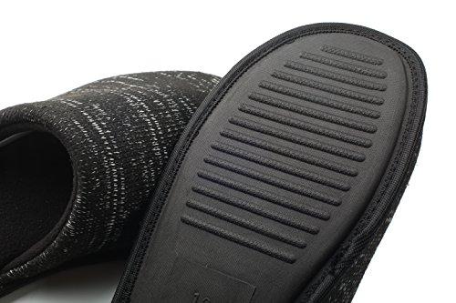 Nero Cosmoz 45 Foderato Antiscivolo Memory 40 Maglia Pantofola Donna E Foam Unisex A Ue Uomo Per 0knPO8w