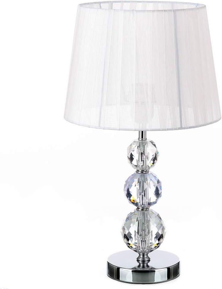 Lámpara de sobremesa árabe blanca de metal para dormitorio Fantasy - LOLAhome