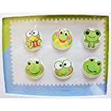 """Home"" Button Sticker for iphone/ipad/itouch, Froggy, 6 Stickers"
