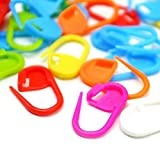 100PC Mix Color Knitting Stitch Counter Crochet Locking Stitch Markers Stitch Needle Clip Knitting Crochet Markers(Color Ship Randomly): more info