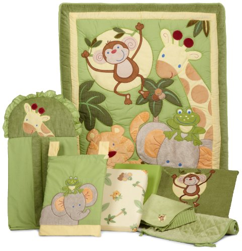 Froggy Diaper Stacker (NoJo Jungle Babies 8 Piece Bedding Set)