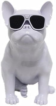 Moon Boat Französische Bulldogge Wireless Bluetooth Auto Subwoofer Kreativen Kleinen Lautsprecher Ganze Hund Intelligenz Persönlichkeit Weiß Audio Hifi