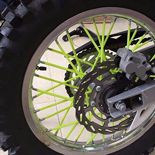 72Pcs Universal Spoke Skins Covers,Wheel Spoke Wraps Skins Pipe Trim Decoration Protector For Motorcycle Dirt Bike Yamaha Honda BMW Suzuki Kawasaki Orange