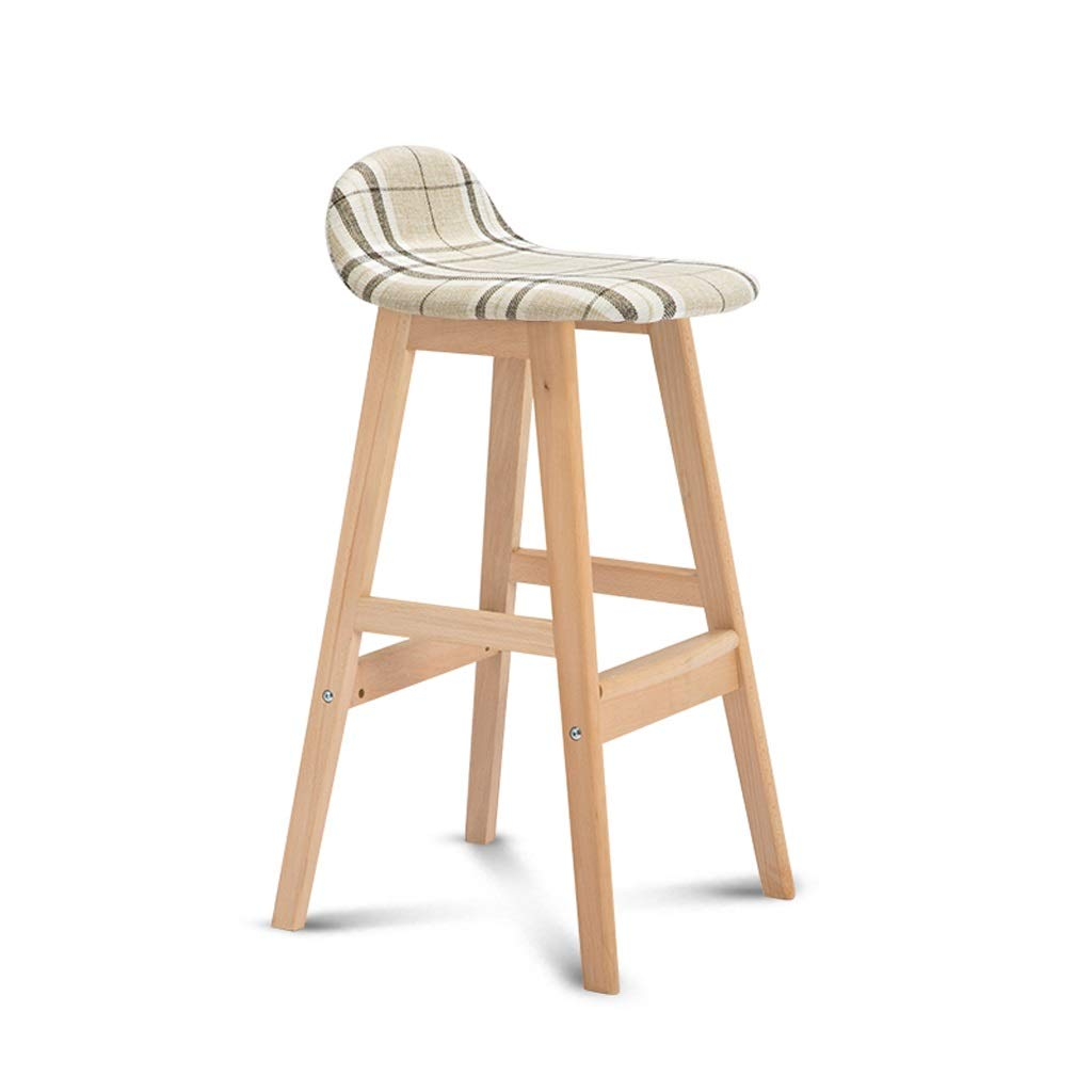 D TXXM Barstools Bar Stool Solid Wood bar bar Stool Breakfast Stool Counter bar Coffee Shop Stool Multicolor (color   A)