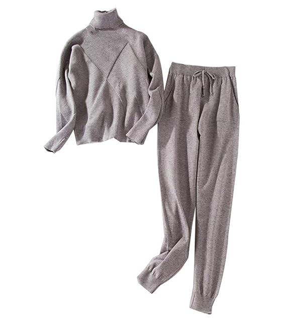 Amazon.com: YOJDTD Traje de punto de punto de moda trajes de ...