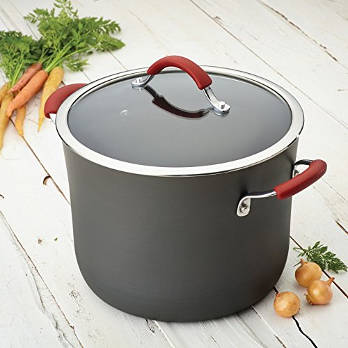 Pemberly Row Hard-Anodized Nonstick Stockpot in Gray and Red by Pemberly Row (Image #2)