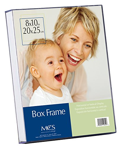 Crystal Clear Acrylic Box Picture Frame – Heavy Gauge Crystal Clear Acrylic w/White Insert Box for Displaying Photos or Artwork