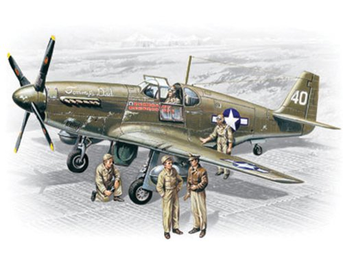 (ICM Models P-51B Mustang with Crew Building Kit)