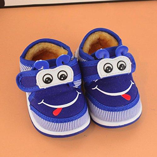 Huhu833 Kinder Mode Junge Mädchen Schuhe Babyschuhe Weiche Sohle Anti-Rutsch Kleinkind Schuhe (0~24M) Blau