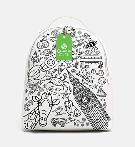 Eggnogg Colour-in Fabric Backpack, Busy Bee, 1 Backpack