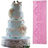 Anyana sugar edible scroll flower lace cake silicone Embossing Mat Texture fondant impression lace mat decorating mold gum paste cupcake topper tool icing candy imprint baking moulds sugarcraft