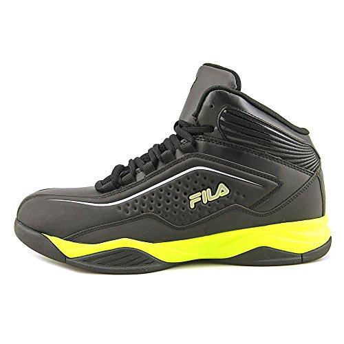 Fila Sneakers Da Basket Intrappolamento Nero, Giallo Sicurezza, Argento Metallizzato
