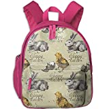 Chick And Rabbit Backpack Printed Laptop School Bookbags College Bags Daypack Travel Bag