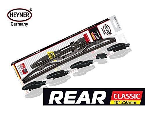 Heyner Classic - Escobilla de repuesto para limpiaparabrisas trasero, 250 mm, adaptador RD+ MULTI FIT2: Amazon.es: Coche y moto