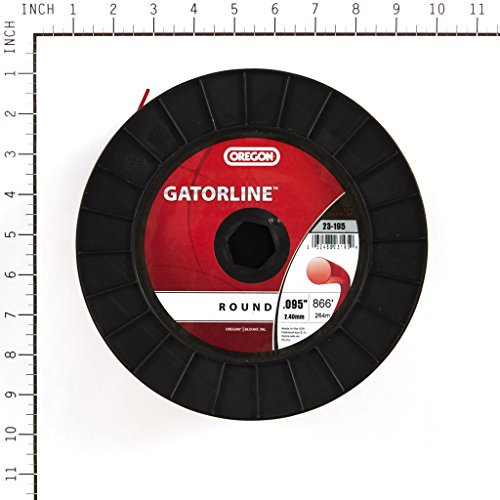 Oregon 23-195 Professional Red Gatorline Round String Trimmer Line .095-Inch Diameter 3-Pound Spool by Oregon (Image #1)