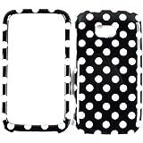 Lumia 822, For Nokia Lumia 822, Fitted Case/Skin New Hard Rigid Plastic, (White Dots) Cover Case, Nokia Lumia...