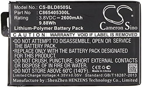 SL1805A Studio XL BLU C865405300L Battery 2600mAh Replacement for BLU D850Q S0190UU