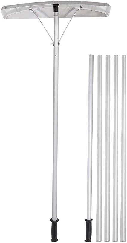 TUFFIOM Extendable Aluminum Snow Rake - Straightforward Installation