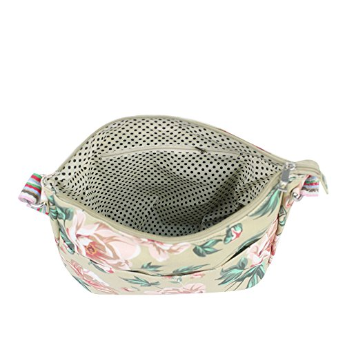 Oilcloth Satchel Rose Bag Bags Flower Shoulder Material Tote Messenger Ladies Cross Body Beige Handbag YDezire® qxw7Cgtq