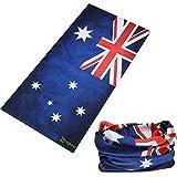 Headbands, Zupoo(TM) Flag Series 16-in-1 Multifunctional Headband Sports Magic Scarf,Collars Muffler Scarf Face Mask,Australian flag